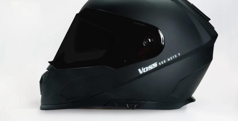 VOSS 989 MOTO-V MATTE BLACK HELMET