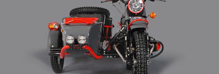URAL MOTORCYCLE RED SPARROW