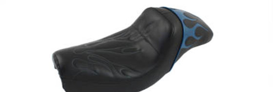 Gunfighter Seat Teal Flame Style