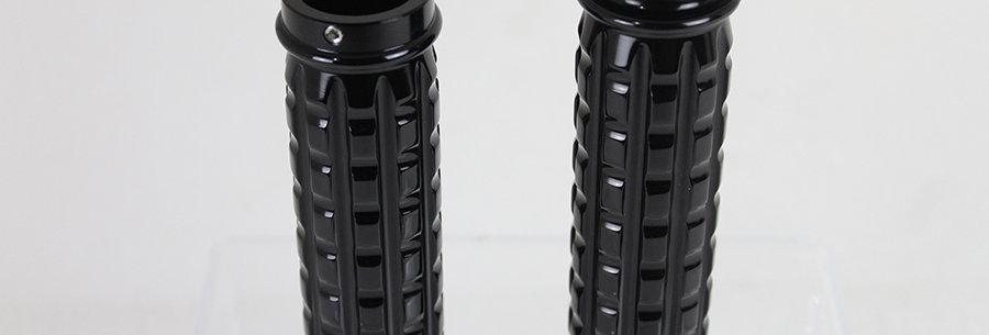 Black Grained Style Handlebar Grip Set