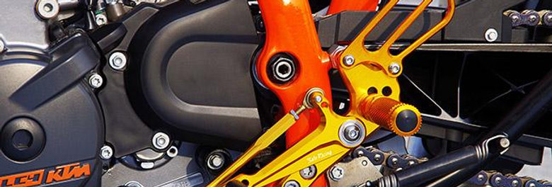 SATO RACING ADJUSTABLE REARSETS FOR 2012-2015 KTM 690 DUKE