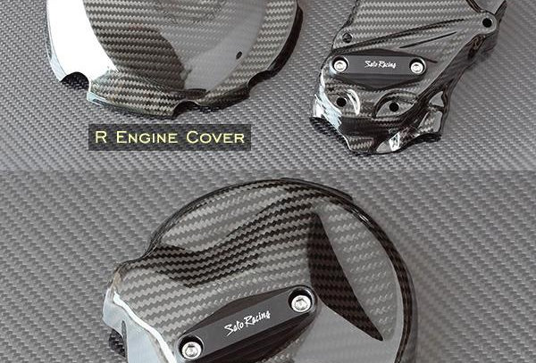 SATO RACING CARBON ENGINE COVER W/SLIDER FOR 2009-2015 BMW S1000RR