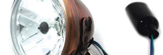 "4-1/2"" Round Headlamp Copper"