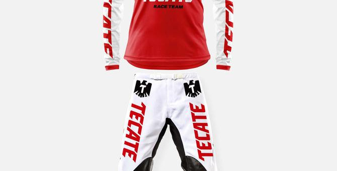 TECATE RACE TEAM PANT WHITE-RED