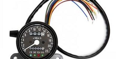Triumph speedometer for carburetion
