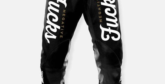 LESS THAN ZERO PANT BLACK-WHITE