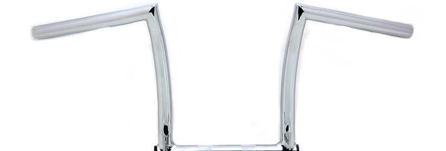 """11"""" Chrome Chizeled Z-Bar Handlebar with Indents"""