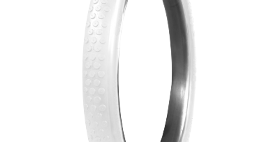 G&J Button Tread Cycle | All White | 28x3