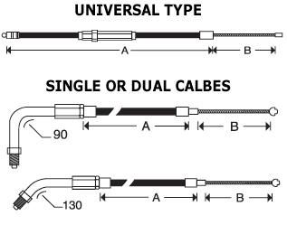 HIGH EFFICIENCY CLUTCH CABLES