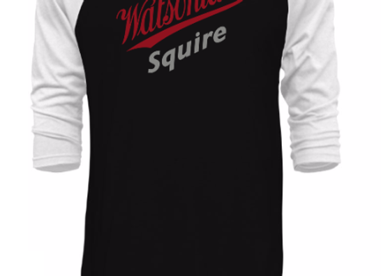 Watsonian Squire Baseball Long Sleeve T-Shirt Black