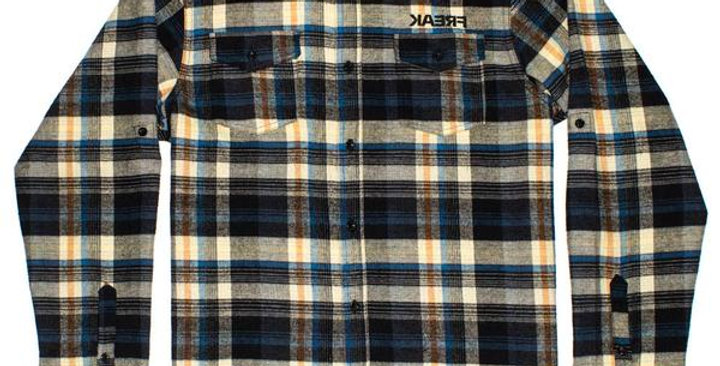 PINNED-FLANNEL SHIRT