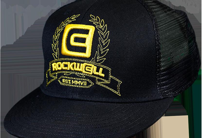 Snapback Trucker Hat Black Gold