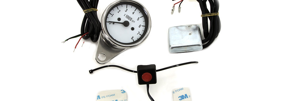 Multi Colored 60mm Electric Tachometer