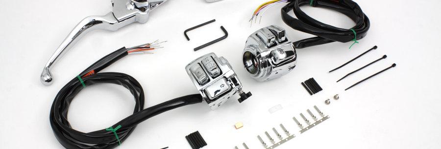 Chrome Handlebar Control Kit
