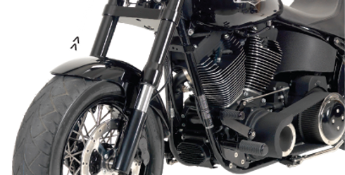 Exile inverted Front End, Wide-Glide, Black Anodized