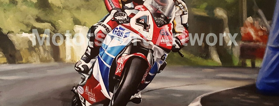 """Martin Finnegan, at the K tree, Isle of man TT"""