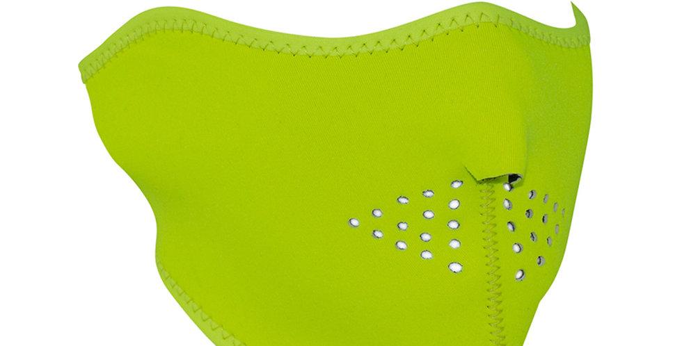 NEOPRENE HALF FACE MASK High-Visibility Lime