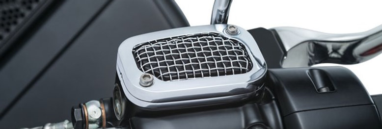 Mesh Brake Master Cylinder Covers for '08-'17 Touring and '09-'13 Trike