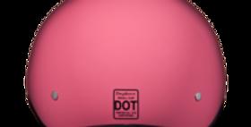 D.O.T. DAYTONA SKULL CAP W/O VISOR- HI-GLOSS PINK