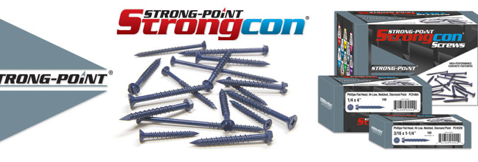 Strongcon Screws 1/4x2-3/4