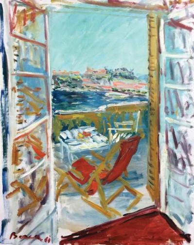 Le Beau-Sejour au balcon, 1961