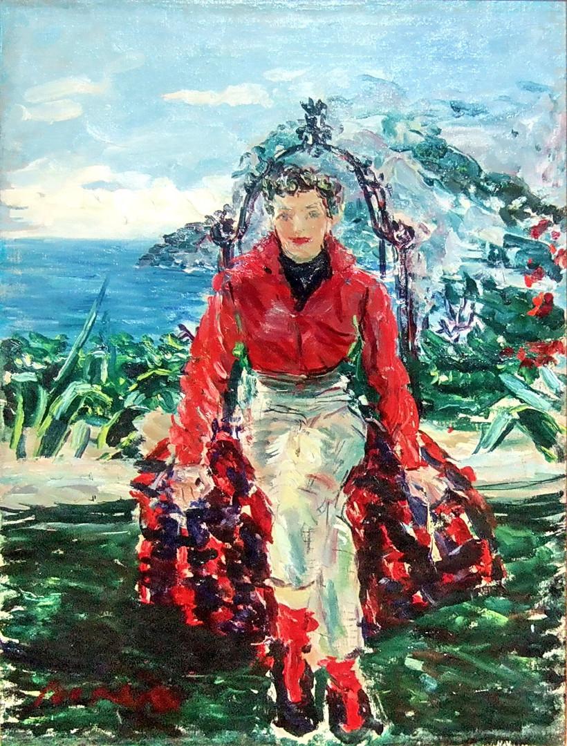 Woman on balancoire