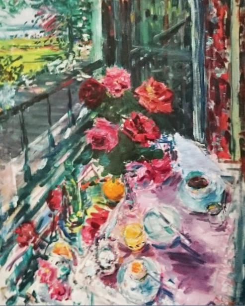 Breakfast at my window in Johannisberg, 1962