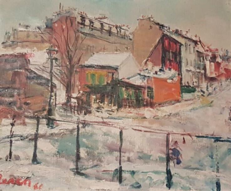 Winter in Paris, Montmartre, 1960