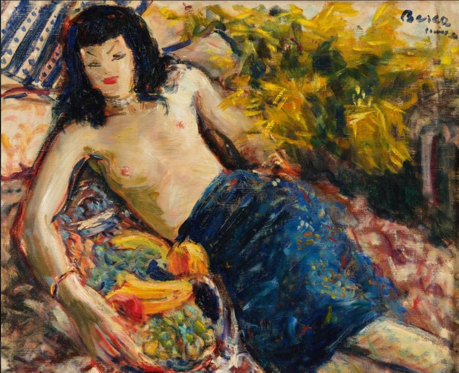 Nude, fruits and flowers