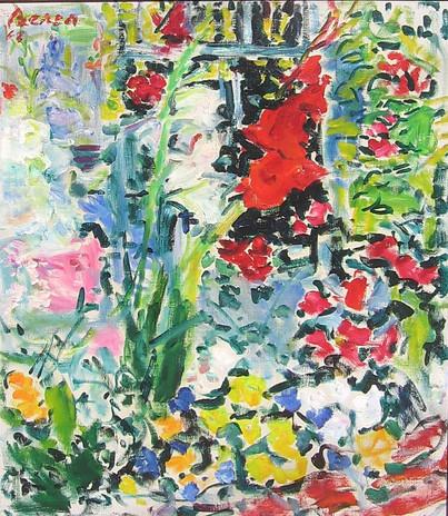 Flowers in the garden, 1964