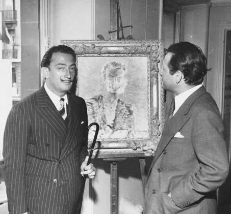 With Salvador Dali