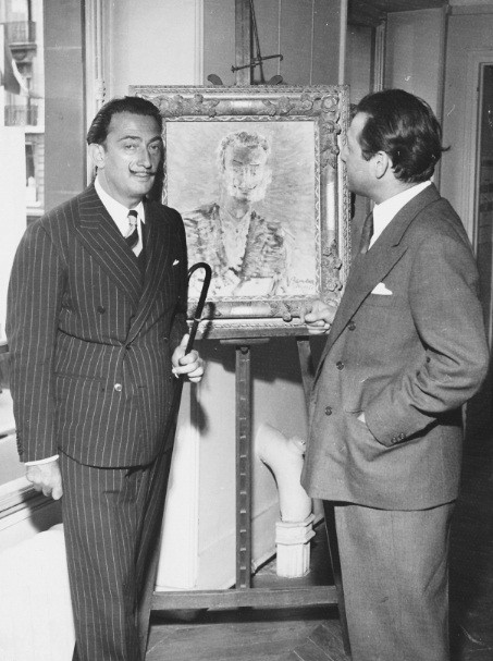 With Salvador Dali