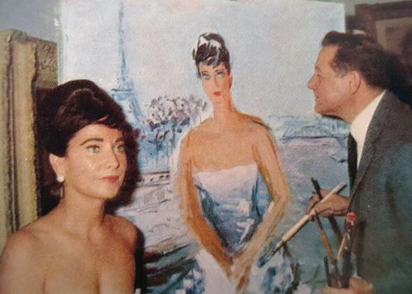 With Merle Oberon, Paris, 1963