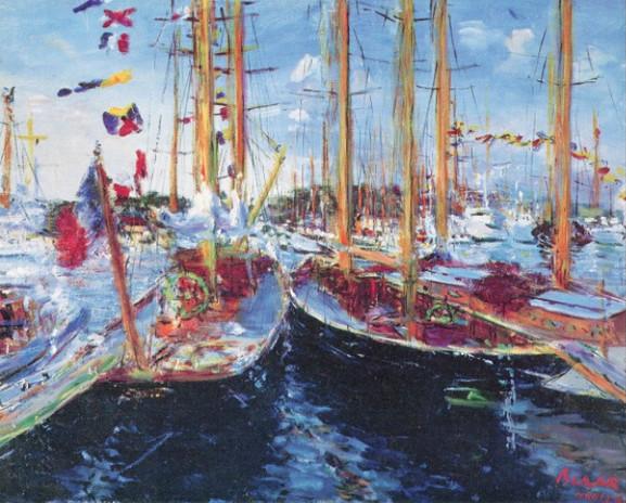 Reflets dans le vieux port de Cannes, 1965