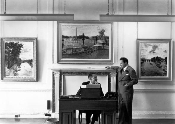 At O'Hana Gallery, London, 1954