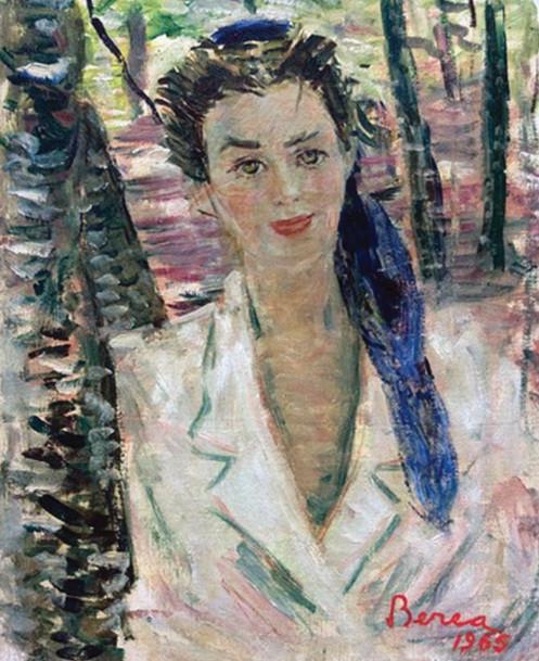 Blue scarf, 1965