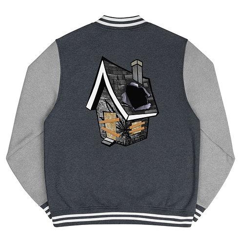 Trap House Men's Letterman Jacket