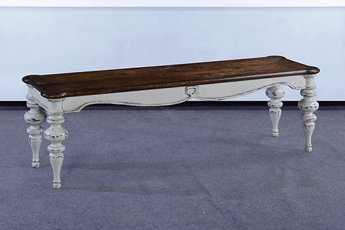 OC.96.AW - Portico Bench With Wood Seat