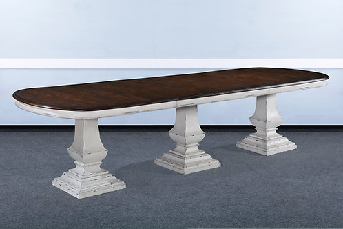 "T.83.AW- Triple Pedestal Pastry Table [130""]"