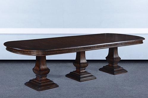 "T.81.DK - Triple Pedestal Pastry Table [130""]"