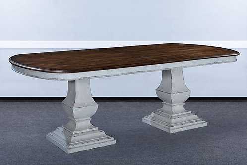 "T.80.AW - Double Pedestal Pastry Table [84""]"