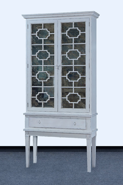 C.65.AW - Bella Cabinet [Antiqued Mirror Doors]