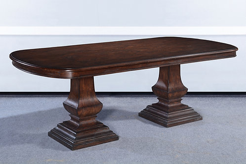 "T.80.DK - Double Pedestal Pastry Table [84""]"