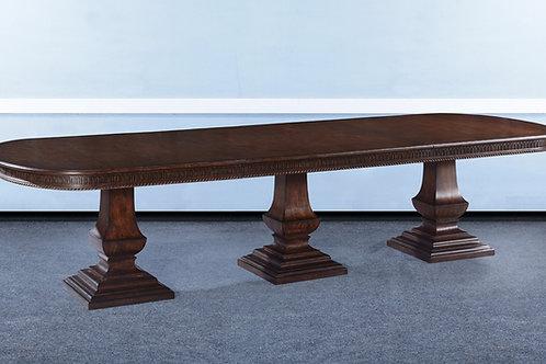 "T.81 - Triple Pedestal Pastry Table [130""]"