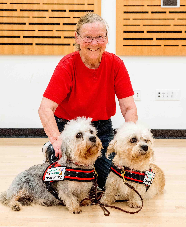 Dandie Dinmont Terrier Daisy & Lucy