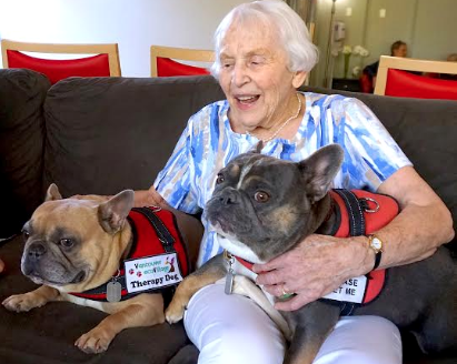 Therapy Dogs Elsee and Mango