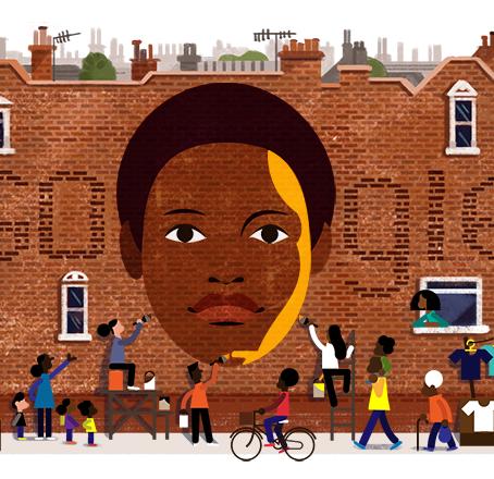 Google Doodle celebrates the 68th birthday of Olive Morris