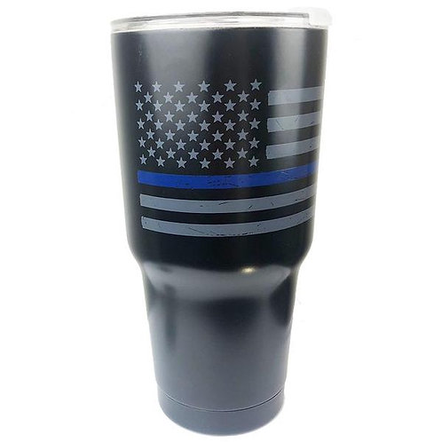 Thin Blue Line American Flag Tumbler