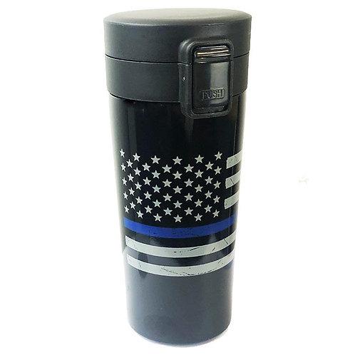 Thin Blue Line American Flag Coffee Thermos