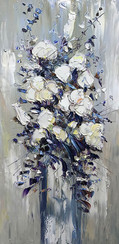 White Floral Bouquet III